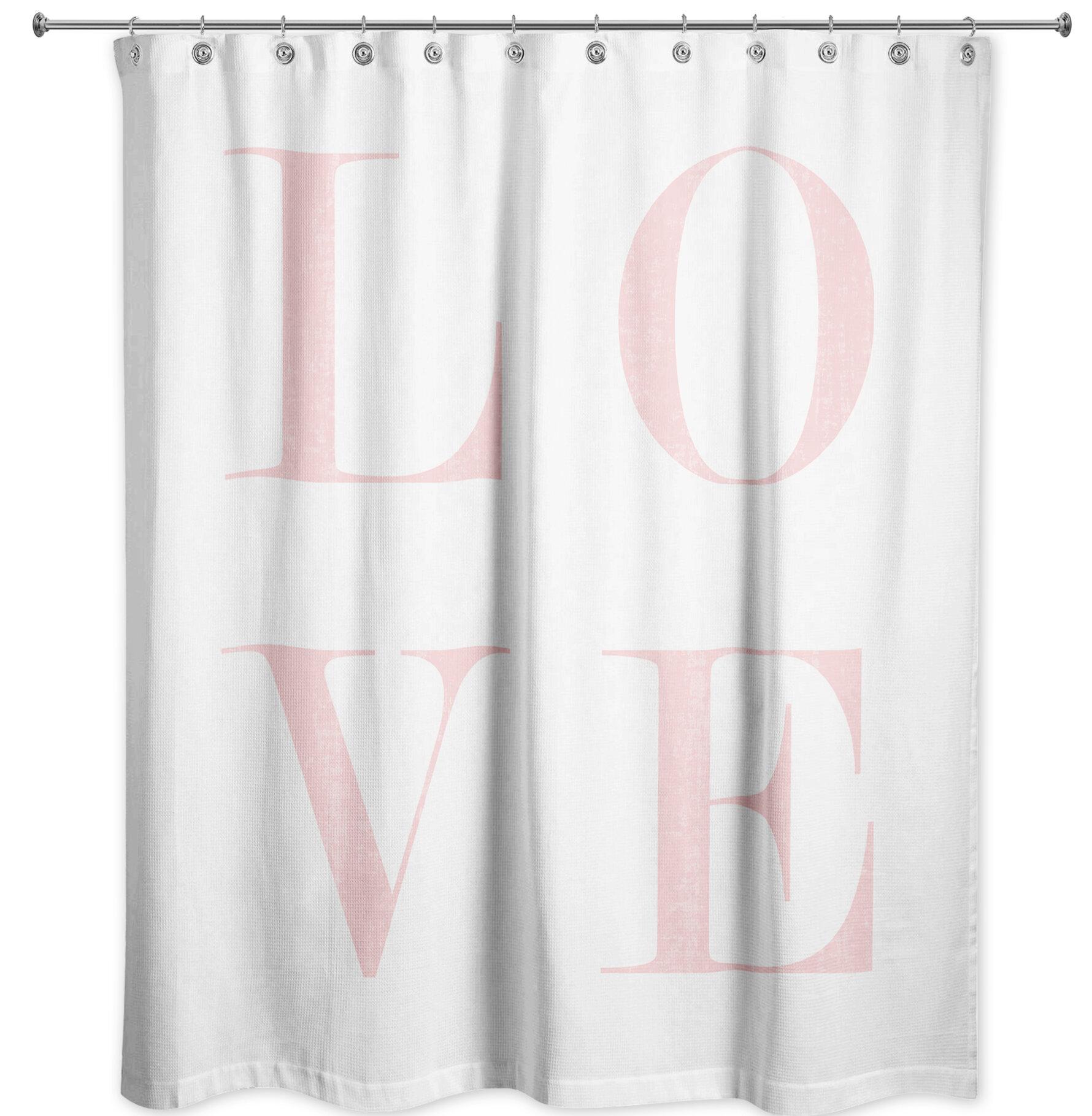 Ivy Bronx Ferreira Love Shower Curtain