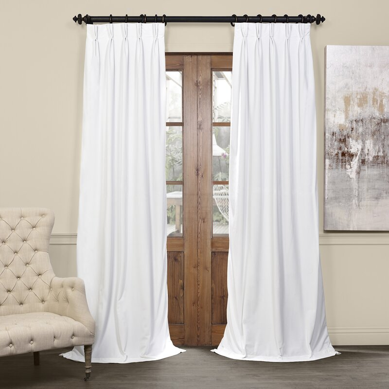 Balone Solid Max Blackout Thermal Pinch Pleat Single Curtain Panel