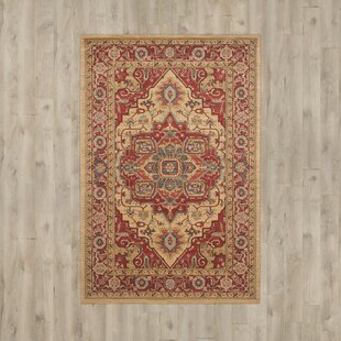 Hamden Red/Gold Area Rug by Three Posts