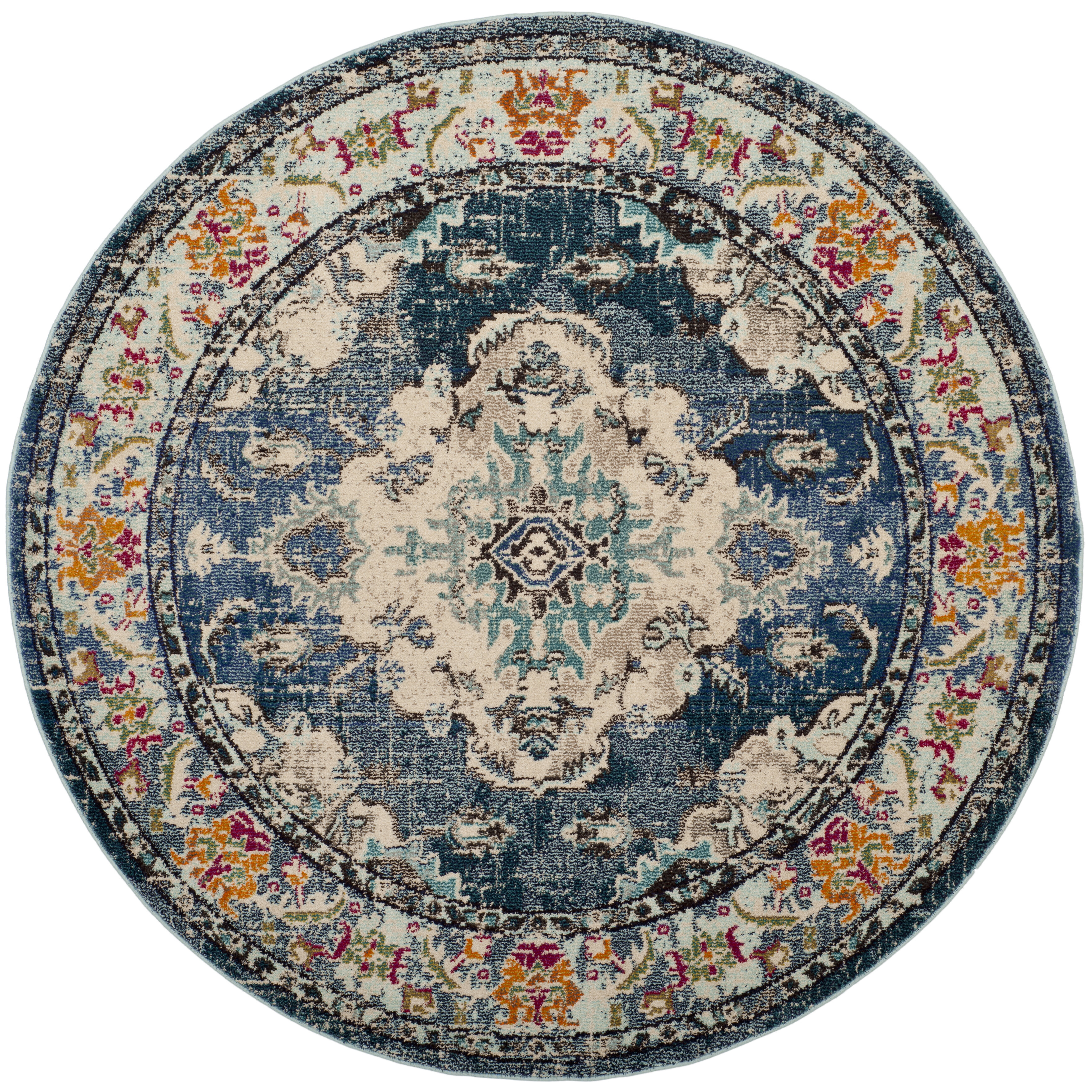 3 4 Round Area Rugs You Ll Love Wayfair