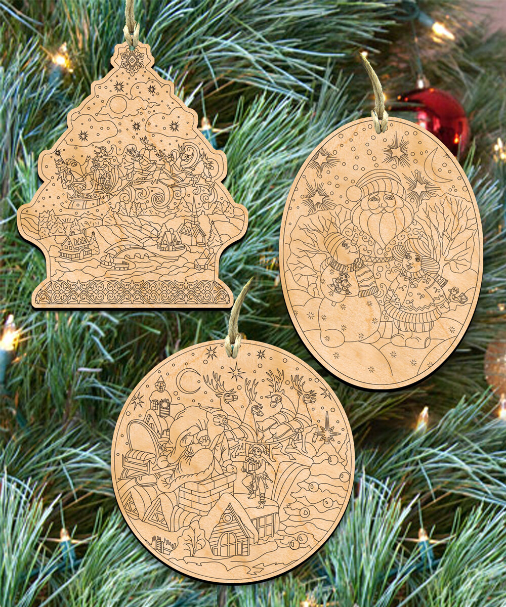 the holiday aisle 3 piece do it yourself christmas ornament set wayfair - Do It Yourself Christmas