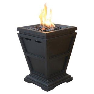Corner faux fireplace wayfair addams faux stone propane fire column teraionfo
