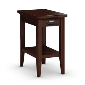 Downtown Chairside Table with Drawer by Caravel