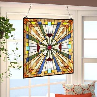glass window panels texture charlotte square glass window panel shaped stained panels youll love wayfair