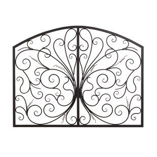 Metal Scroll Complex Panel Wall Decor