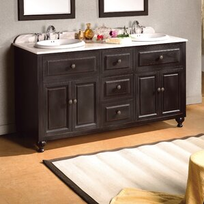 London 60  Double Bathroom Vanity SetDouble Vanities You ll Love   Wayfair. Double Sink Bathroom Vanities And Cabinets. Home Design Ideas