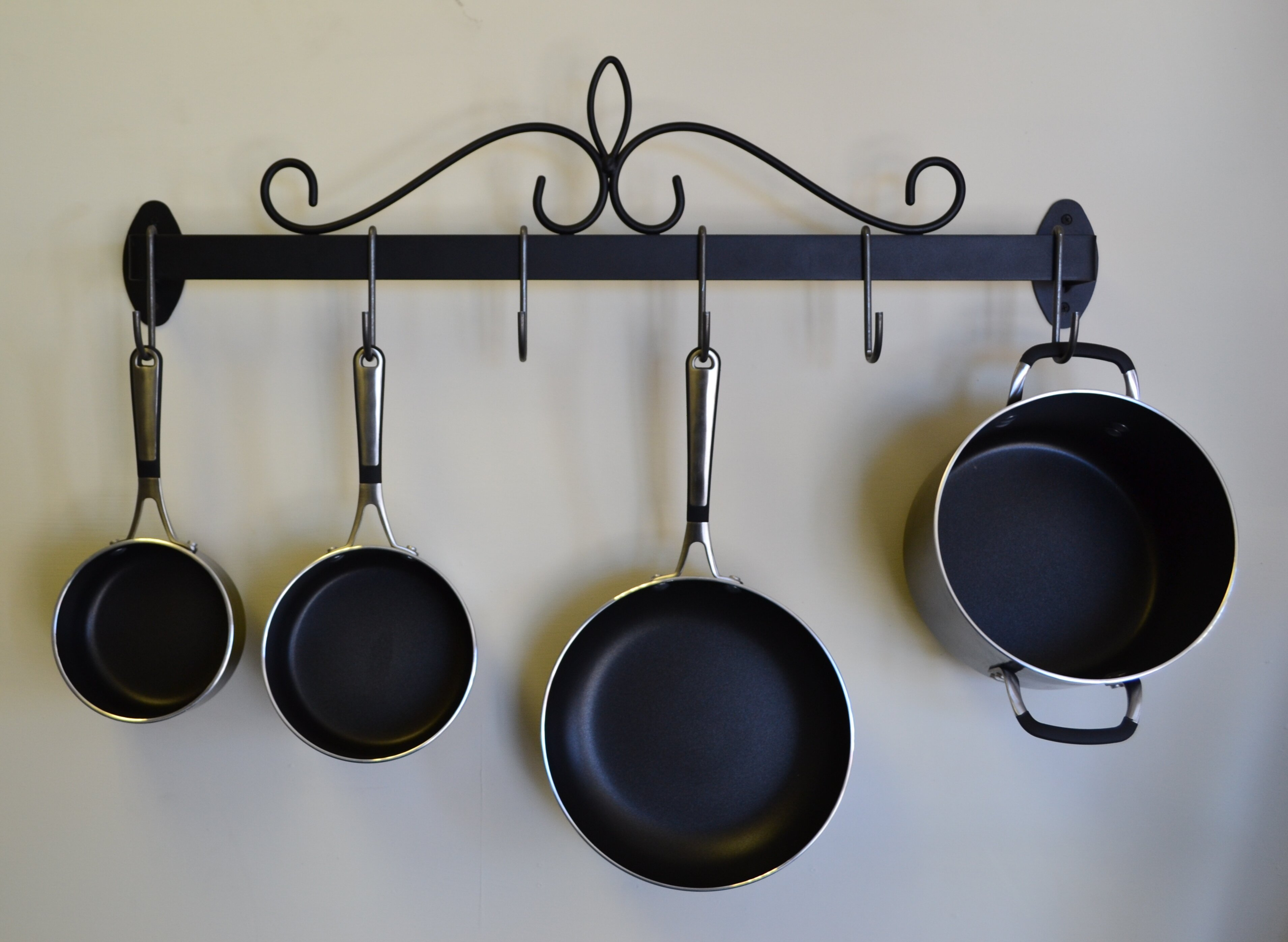 for inside pots and small rack island s hanging pot cabinet kitchen blacks pan in pans australia target diy over