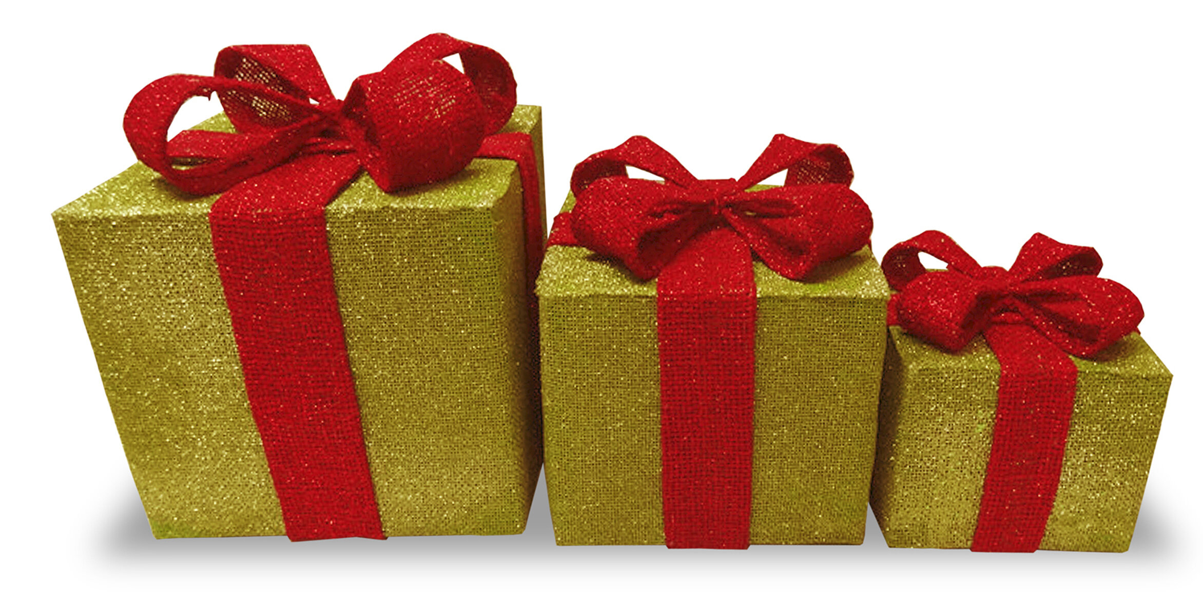 3 piece christmas gift box decoration set wayfair