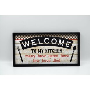 Welcome To Kitchen Wall Décor