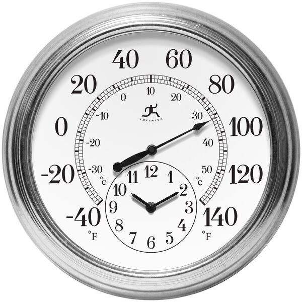 Infinity Instruments Prague Thermometer And Clock