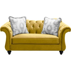 Indira Premium Tufted Upholstered Loveseat by Willa Arlo Interiors
