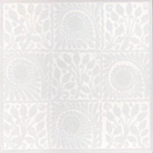V&A 15.2cm x 15.2cm Ceramic Tile in White