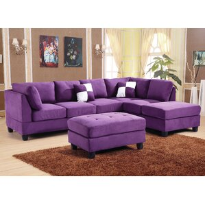Childress Sectional  sc 1 st  Wayfair : purple sectional sofa - Sectionals, Sofas & Couches