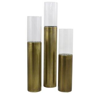 3 Piece Sicily Cylinder Metal Votive Set