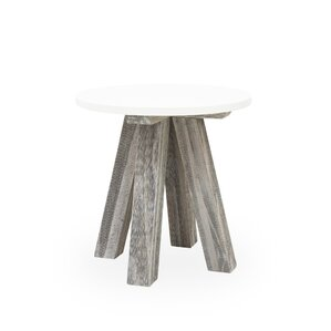 Elmwood Round End Table by Union Rustic