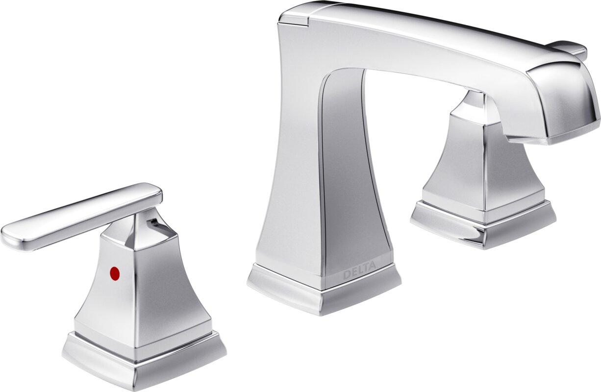 7 Faucet Finishes For Fabulous Bathrooms: Delta Ashlyn Mini-Widespread Double Handle Bathroom Faucet