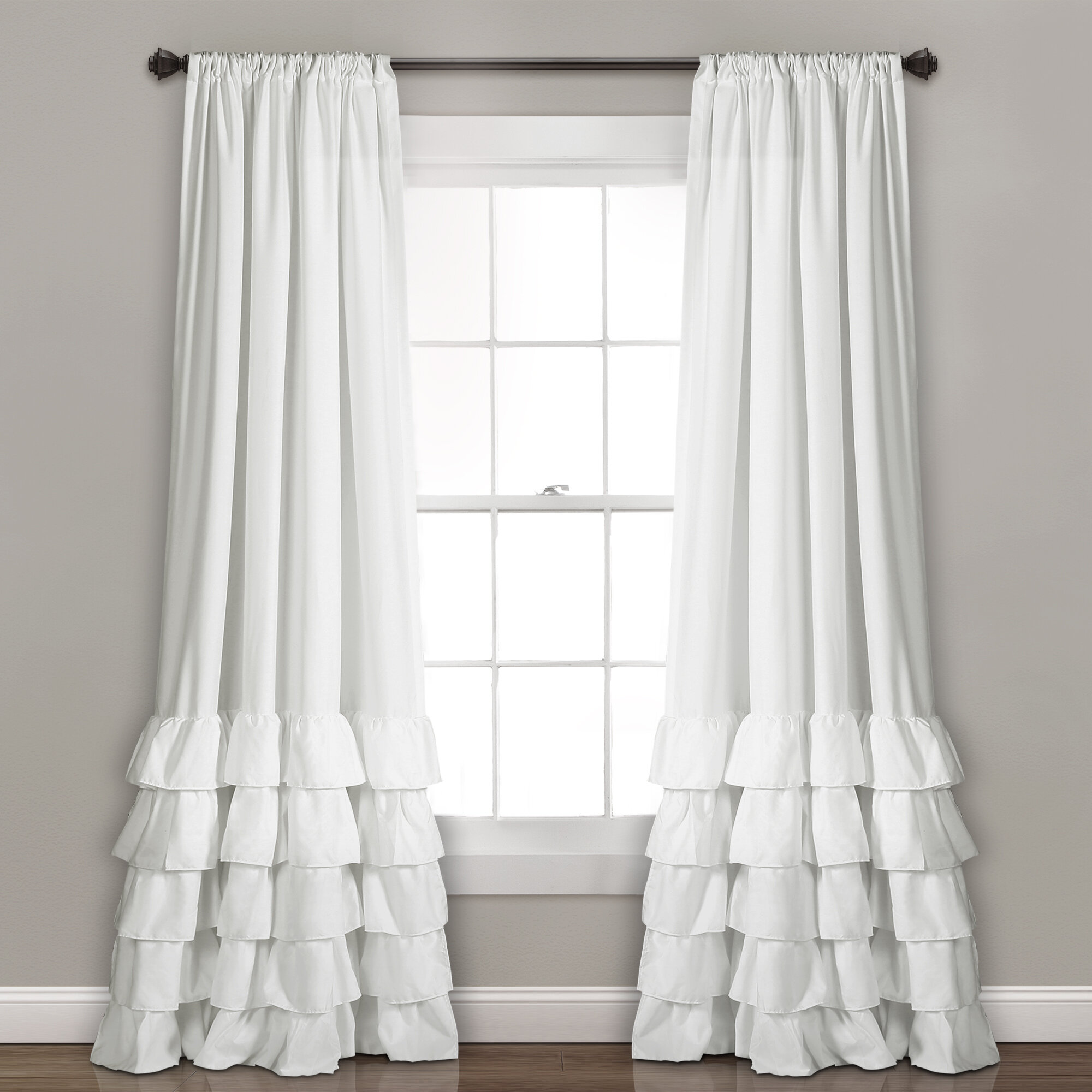 panel curtain white w vertical tie ruffles unlined silk curtains ruffle amazon pin x top faux window com l bed