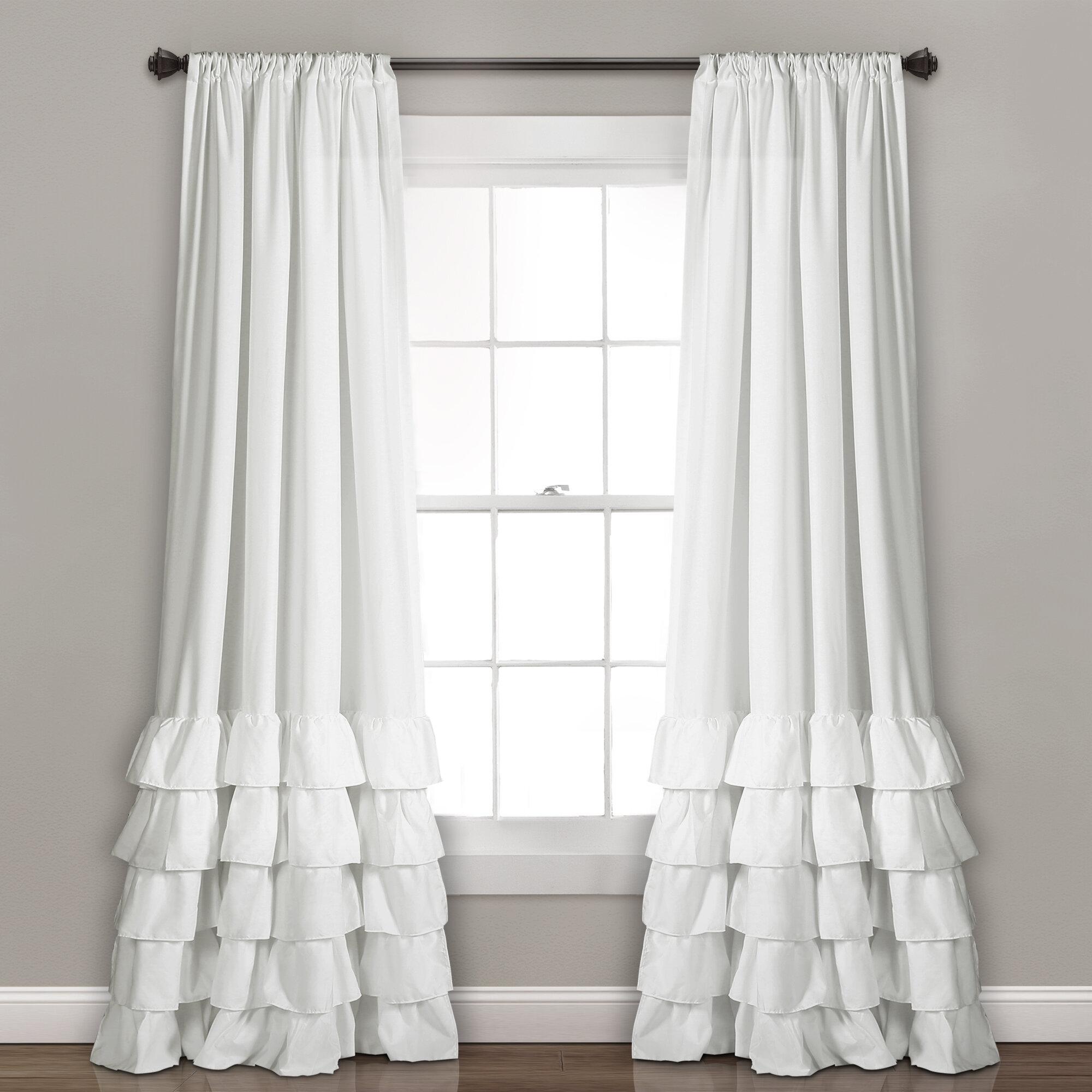 decoration minimalist ruffle ideas for modern target curtain panel home curtains unique xhilaration ruffled