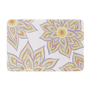 Floral Rhythm by Pom Graphic Design Bath Mat