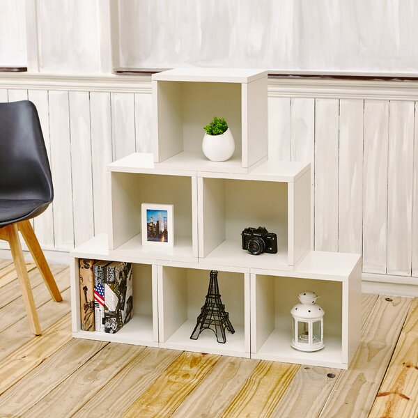 Mercury Row Daniell Stackable Organizer Cube Unit Bookcase