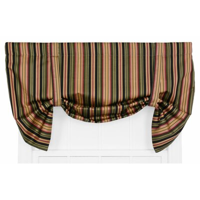 Xenia Medium Scale Stripe Print Lined Tie Up Curtain Valance VIEW ALL