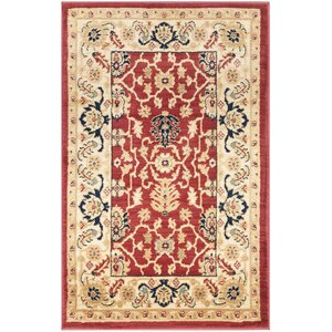 Austin Red/Cream Area Rug