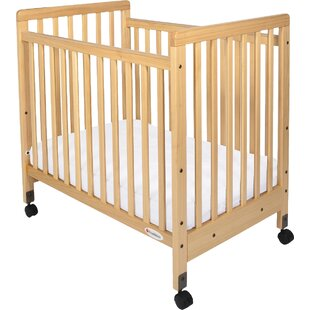 Sonali Compact Size Slatted Portable Crib With Mattress