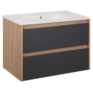 Belfry Bathroom Norah 80cm Wall Mounted Vanity Unit with Tap