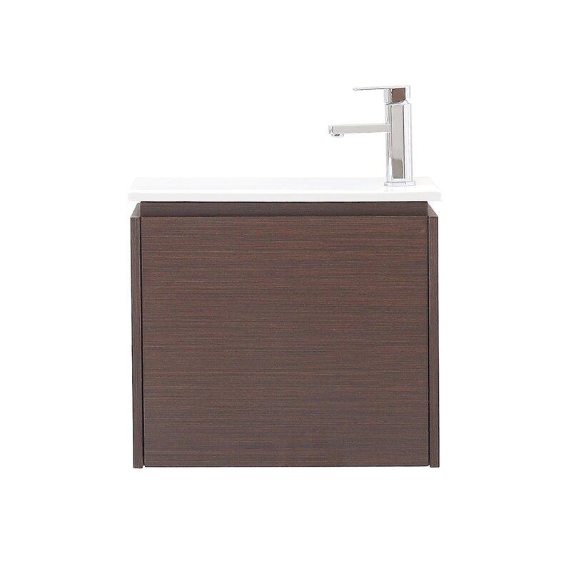 """avanity milo 22"""" single wall mounted bathroom vanity set & reviews"""