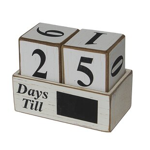Wood Block Calendar Wayfair