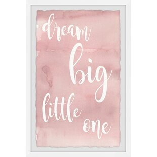 Jarrett Pink Dream Big Little One Framed Art by Viv   Rae