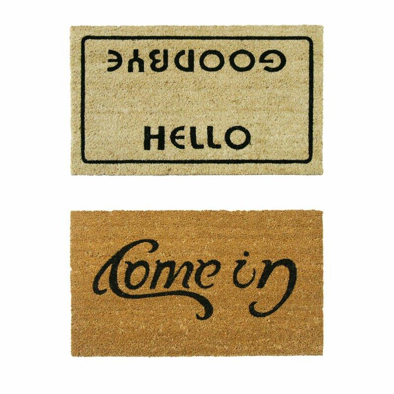 Good Welcome Go Away Doormat Set