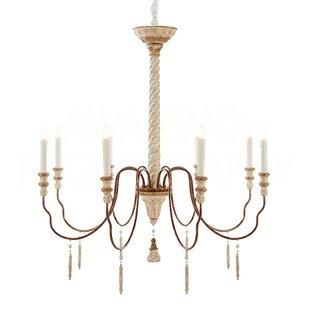Large round candle chandelier wayfair yolonda large candle style chandelier aloadofball Images