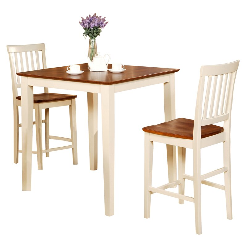 wood dining room sets. Givens 3 Piece Counter Height Wood Bistro Set Kitchen  Dining Room Sets You ll Love