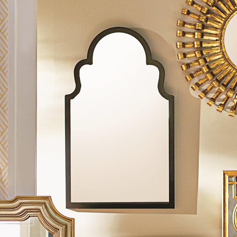 Contemporary Wall Mirror fifi contemporary arch wall mirror & reviews   allmodern