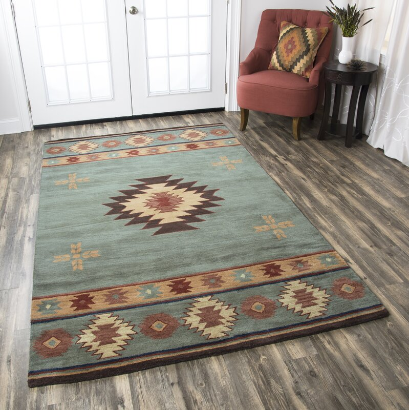 The Conestoga Trading Co. Hand-Tufted Green Area Rug