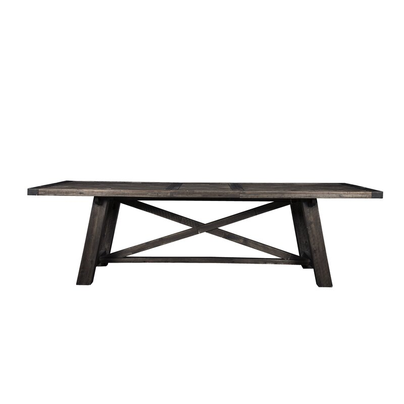 Colborne Extendable Solid Wood Dining Table Reviews Joss Main