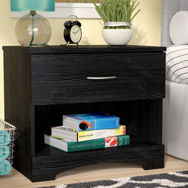 Andover Mills Poulson 1 Drawer Nightstand & Reviews