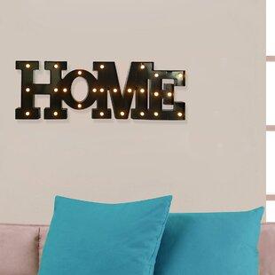 LED Plastic Letter Wall Décor