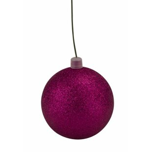 Glitter Ball Christmas Ornament Set Of 12