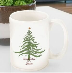 The Holiday Aisle Personalized Vintage Christmas Tree Coffee Mug Wayfair