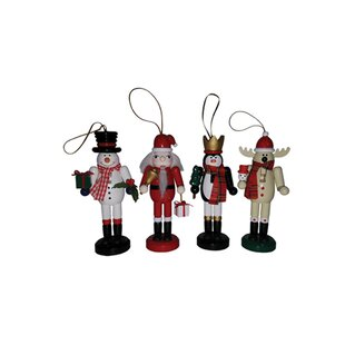buckman 4 piece christmas nutcracker hanging figurine set - Nutcracker Christmas Ornaments