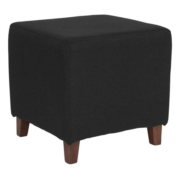 Upholstered Wood Ottoman   Wayfair