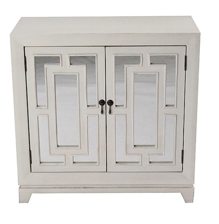 Heather Ann 2 Door Wood Cabinet With Mirror Reviews Wayfair