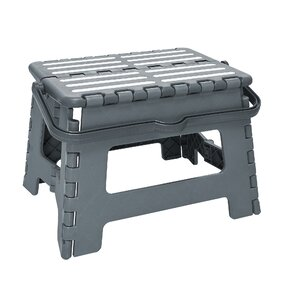 1-Step Plastic Folding Step Stool with 200 lb. Load Capacityu00a0