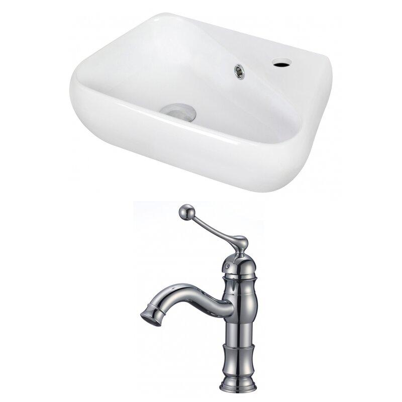 Royalpurplebathkitchen Ceramic 18 Wall Mount Bathroom Sink With