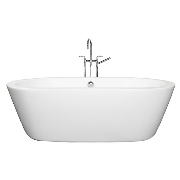 Wyndham collection mermaid 71 x 34 freestanding soaking for Best freestanding tub material