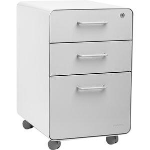 3drawer mobile vertical file cabinet