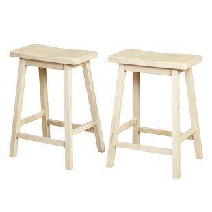 Wooden 24 Bar Stool Set Of 2
