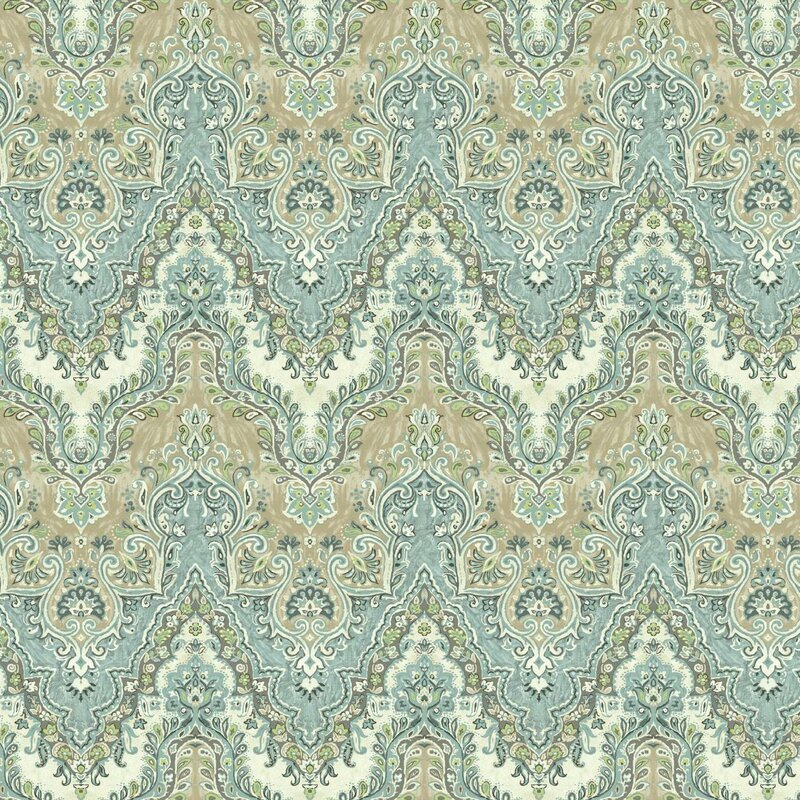 """27 In X 27 In Rustic Mother Of Pearl Wall Decor 41121: York Wallcoverings Global Chic Palace 27' X 27"""" Damask"""